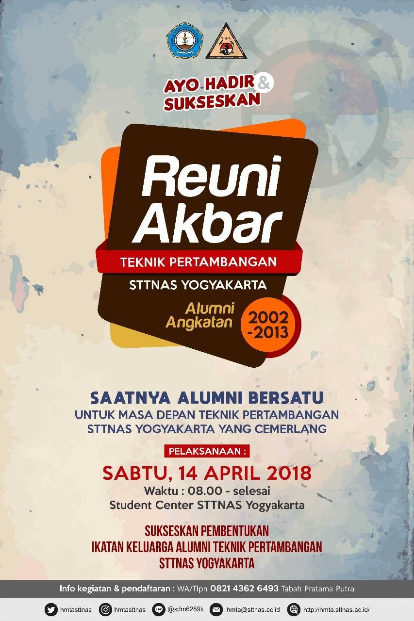 Reuni Akbar Teknik Pertambangan STTNAS Yogyakarta